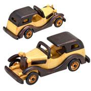 Enfeite de madeira carro 22x08x09 cm