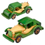 Enfeite de madeira carro 21x08x09 cm