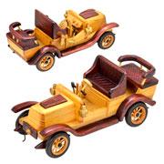Enfeite de madeira carro 28x11x13 cm