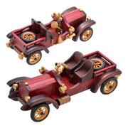 Enfeite de madeira carro 29X10X11 cm