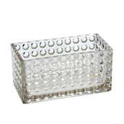 Cachepot de vidro retangular 20x10x10 cm
