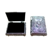 Porta joias prata 10x08x05 cm