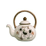 Enfeite em cerâmica Chaleira imperial 25 cm