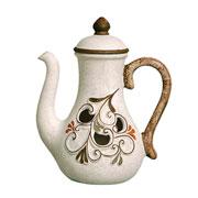 Enfeite em cerâmica bule imperial 26 cm