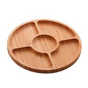 Petisqueira de bambu Round 05 divisória 25 cm