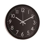 Relógio parede plástico basic preto 25 cm
