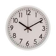 Relógio parede plástico basic branco 30 cm