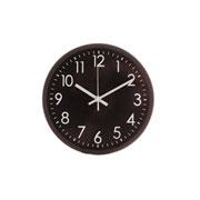 Relógio parede plástico basic preto 30 cm