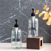 Porta alcool em gel de vidro 490 ml