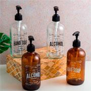 Porta sabonete líquido de vidro Hand Soap 490 ml