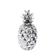 Enfeite abacaxi prata 32 cm