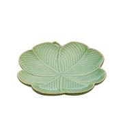 Folha de cerâmica Leaf Verde 20 cm