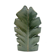 Vaso de cerâmica banana leaf verde 27 cm