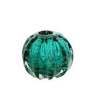 Esfera de vidro italy tiffany 12x10 cm .
