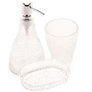 Jogo de banheiro de vidro Elegant 03 peças