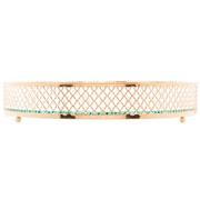 Bandeja de metal com espelho barcelona dourada 25 cm