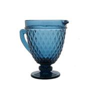 Jarra de vidro bico de abacaxi azul 1 litro