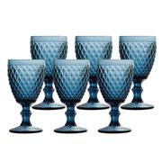 Conjunto de taças bico de abacaxi azul 325 ml 06 peças