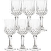 Jogo taças Diamante de vidro para licor 60 ml 06 peças