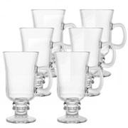 Jogo de taças de vidro para cappuccino 295 ml 06 peças