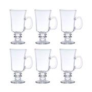Jogo de taças de vidro Cappccino 114 ml 06 peças