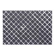 Lugar americano Losango preto/branco 43x30 cm