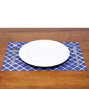 Lugar americano Losango azul/branco 43x30 cm