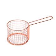 Cesta decorativa de ferro rose 8 cm