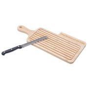 Tábua migalheira com faca para pão 02 peças
