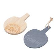 Conjunto  de tabuas bambu e ardósia 02 peças