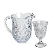 Conjunto de cristal de jarra 1.3 Litros com 06 taças 240 ml