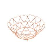 Fruteira de ferro cromado rose 26x09 cm
