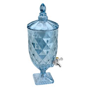 Suqueira de Cristal diamond azul metalizado 5 litros