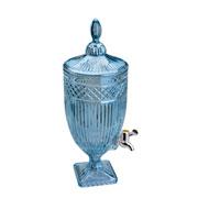 Suqueira de Cristal persa azul metalizado 4.5 litros