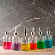 Porta sabonete líquido de vidro sortidos 430 ml
