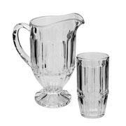 Conjunto de jarra de cristal charlotte com 06 copos 385 ml