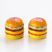 Conjunto Saleiro/ pimenteiro hamburguer 02 peças
