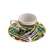 Jogo de xicara para café tropical garden 90 ml 06 peças