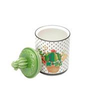 Potiche decorativo de porcelana cactos 20 cm