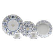Aparelho de jantar de porcelana super White 42 peças