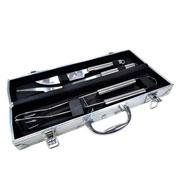 Kit para churrasco inox com maleta 03 peças