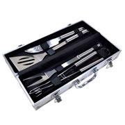Kit para churrasco inox com maleta 04 peças