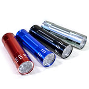 Lanterna Alfacell 9 LEDS a pilha