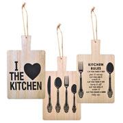 Placa Kitchen decorativa de madeira 13x23 cm