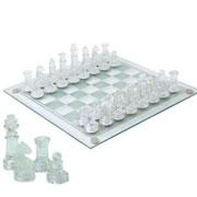 Jogo de xadrez de vidro tabuleiro 25x25 cm