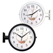 Relógio de parede duplo estação 31 cm
