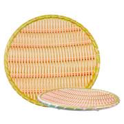 Prato de melamina redondo verde 30 cm
