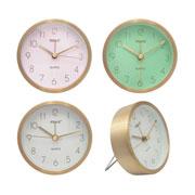 Relógio de parede/mesa de Aluminio colors 09 cm