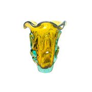 Enfeite de murano trouxinha acácia ambar 21 cm