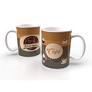 Caneca de porcelana café 340 ml